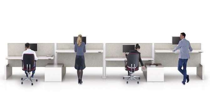 De indeling van een kantoorruimte