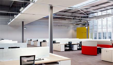 Inrichting kantoorruimte