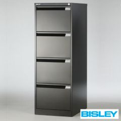 Bisley hangmappenkast zwart