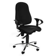 Zwarte bureaustoel Kensis