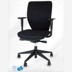 Zwarte bureaustoel