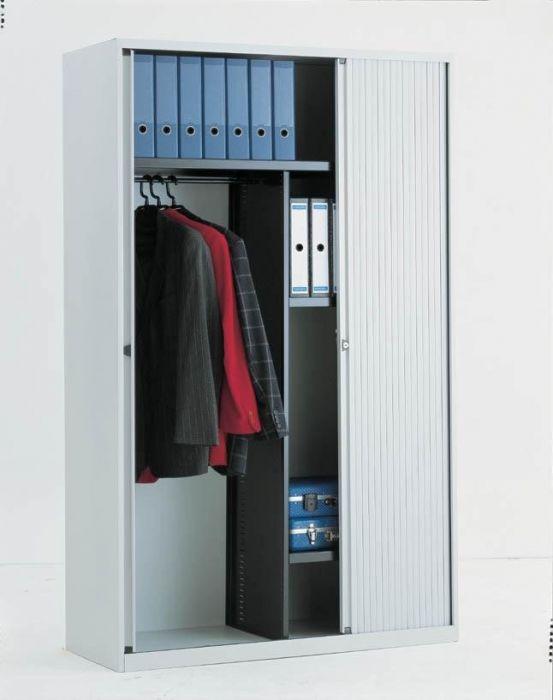 Garderobekast 120 Cm Breed.Garderobe Roldeurkast Bisley 120cm Breed