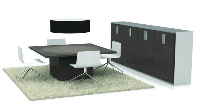 Vierkante vergadertafel Scenario