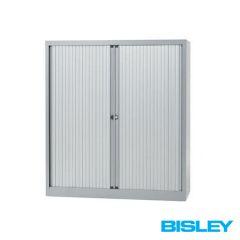 Roldeurkast Basic Bisley H102,9 x B120cm zilvergrijs