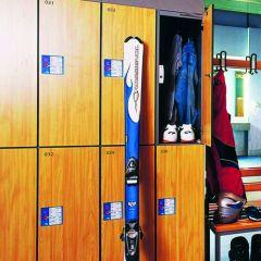 Garderobekast Cambio HPL 2 hoog