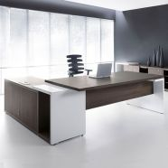 Directiebureau Martino donker sycamore wit hpl